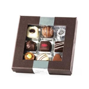 dessert stykker, konfekt og trøffelkugler fra Ålborgchokoladen