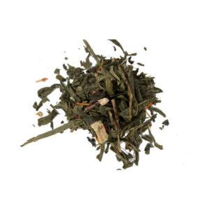 grøn rabarber/fløde te