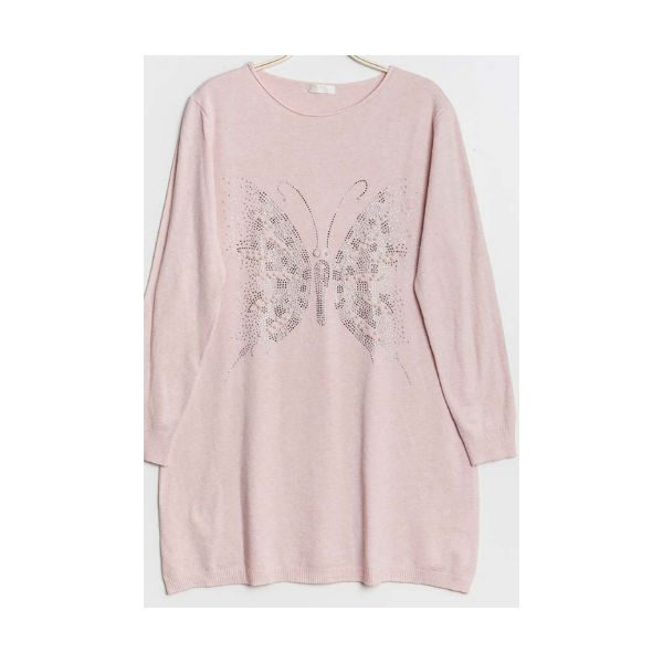 sommerfugle strik lyserød