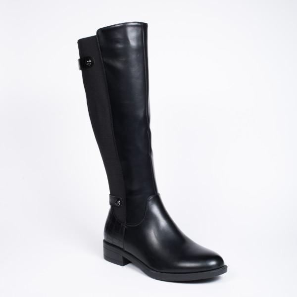 lang sort støvle 2