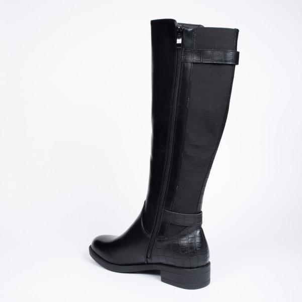 lang sort støvle 3