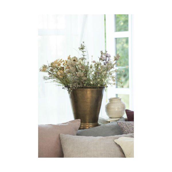kunstig tørrede blomst hvid/grøn