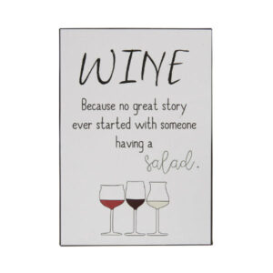 metalskilt wine