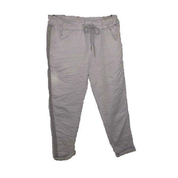 buks med sølv stribe lys grå