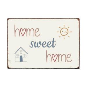 Metalskilt Home sweet home