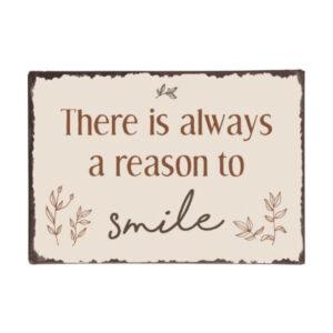 Metalskilt smile