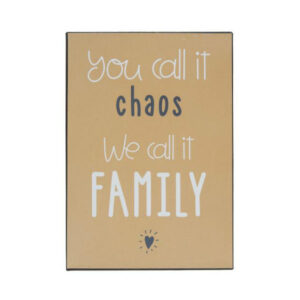 metalskilt family The & ide