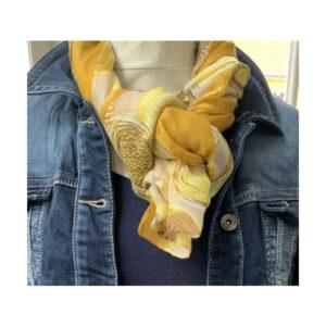 Eghoff tørklæde gul fra the & ide