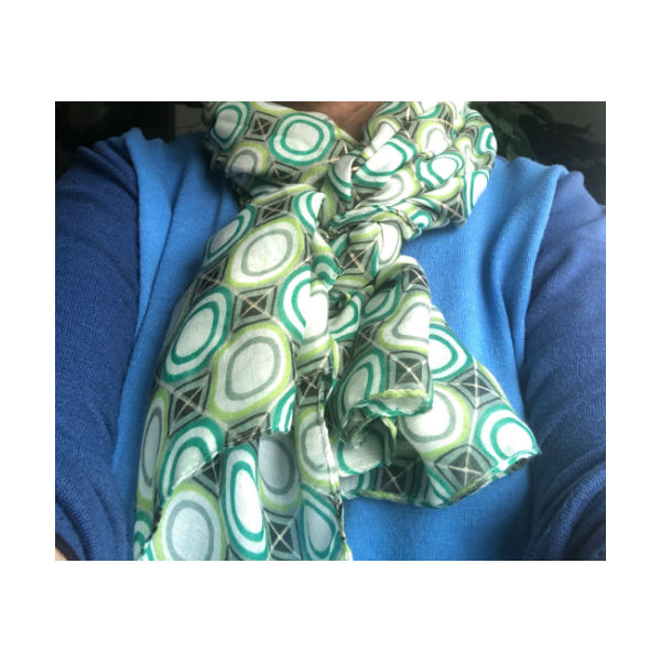 Eghoff tørklæde grøn