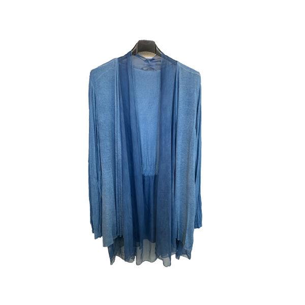 Eghoff tynd cardigan blå fra The & ide