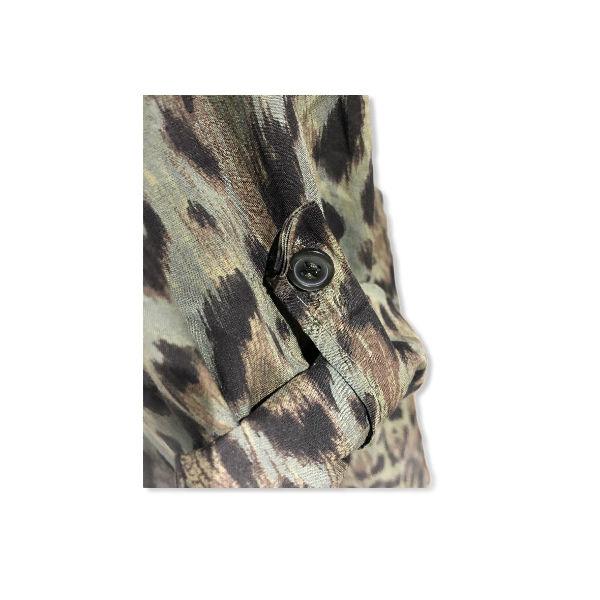 Eghoff skjorte leopard grøn
