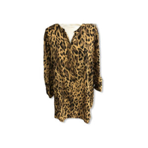 Eghoff skjorte leopard gul
