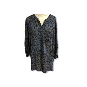 Eghoff skjorte leopard blå