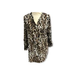 Eghoff skjorte leopard sand