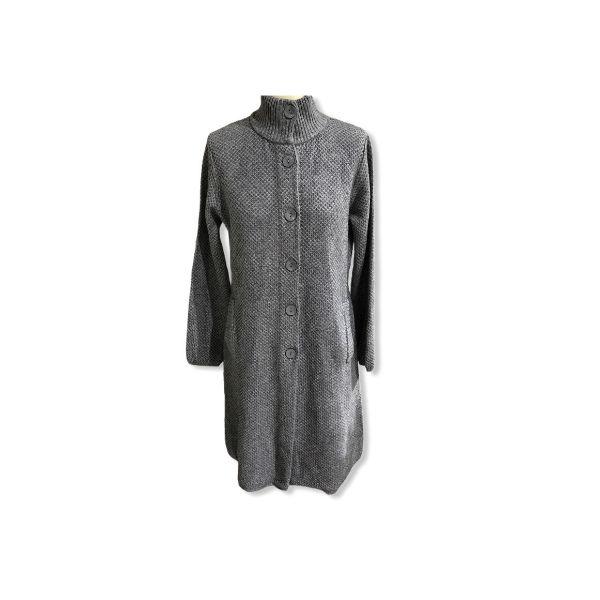 Eghoff strik jakke grå