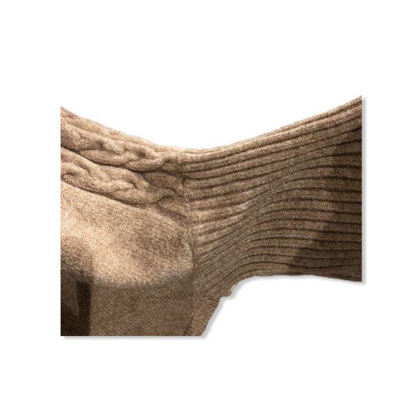 Eghoff poncho med ærme sand
