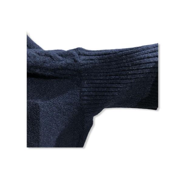 Eghoff poncho med ærme mørk blå