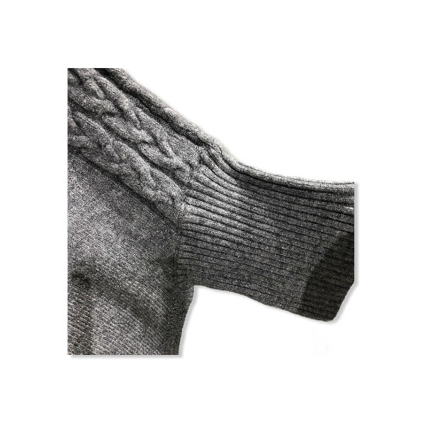 Eghoff poncho med ærmer grå