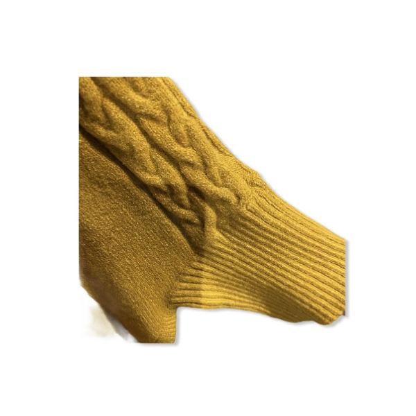 Eghoff poncho med ærmer gul