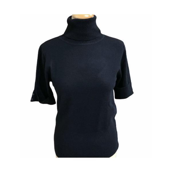 Eghoff rullekrave bluse blå