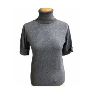 Eghoff rullekrave bluse grå