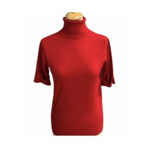 Eghoff rullekrave bluse rød