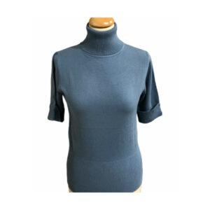 Eghoff rullekrave bluse lysblå
