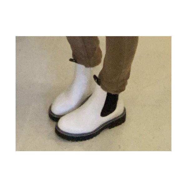 kort støvle hvid
