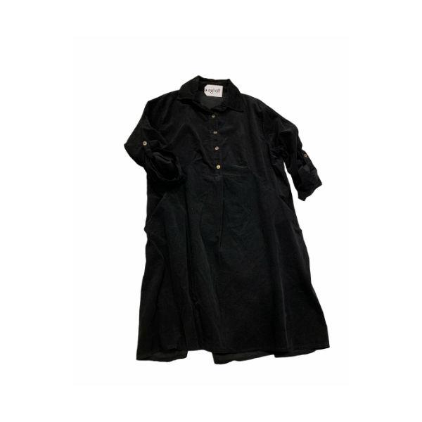kort fløjls kjole sort