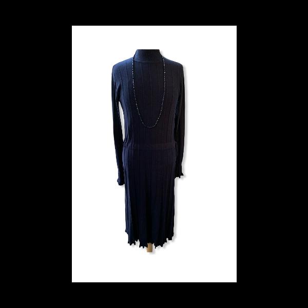 Strik kjole blå