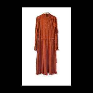 Strik kjole brændt orange ny