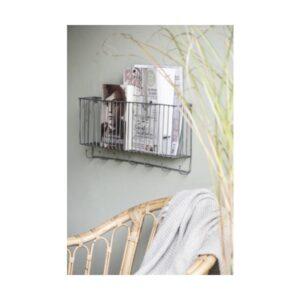 vægkurv / bladholder med 7 knager