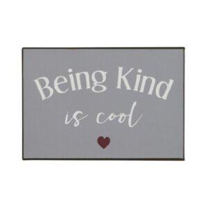Metalskilt being kind is cool