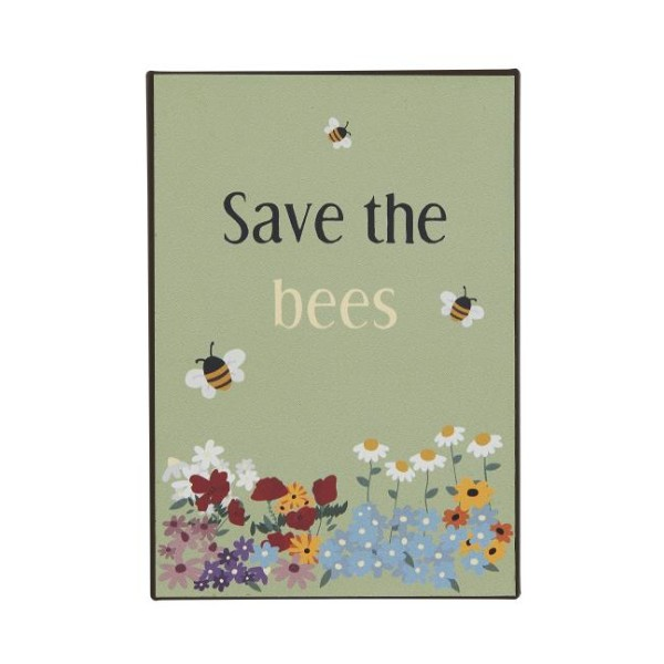 Metalskilt save the bees