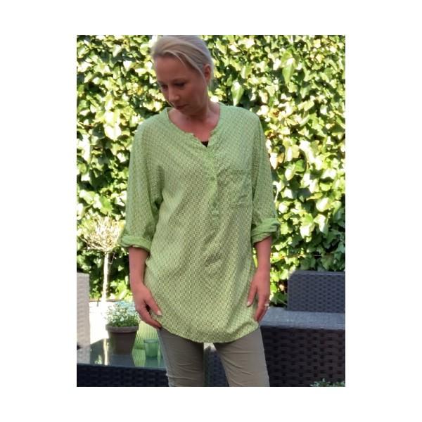 Eghoff skjorte bomuld frisk grøn