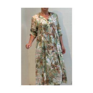 Eghoff kjole grøn print