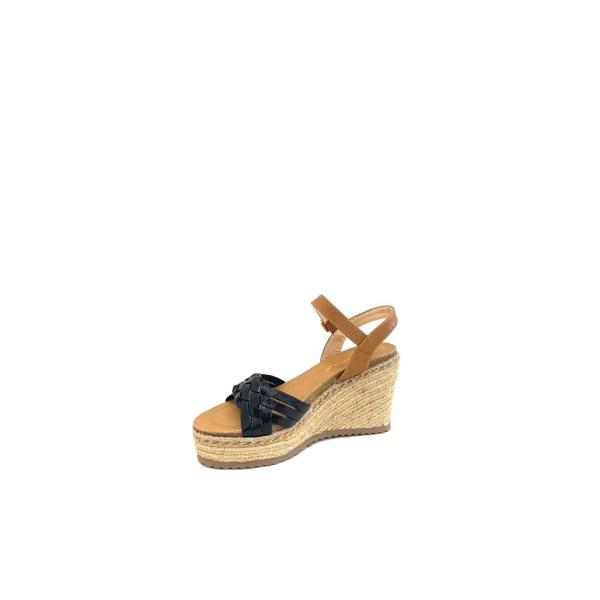 Sandal høj sort flet