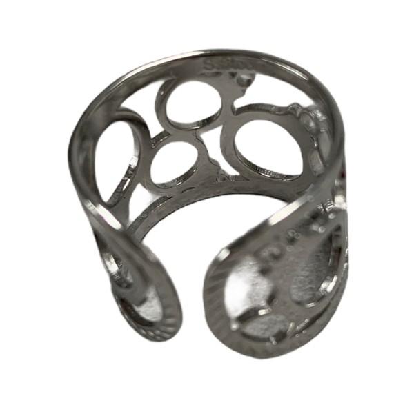 bred ring sølv