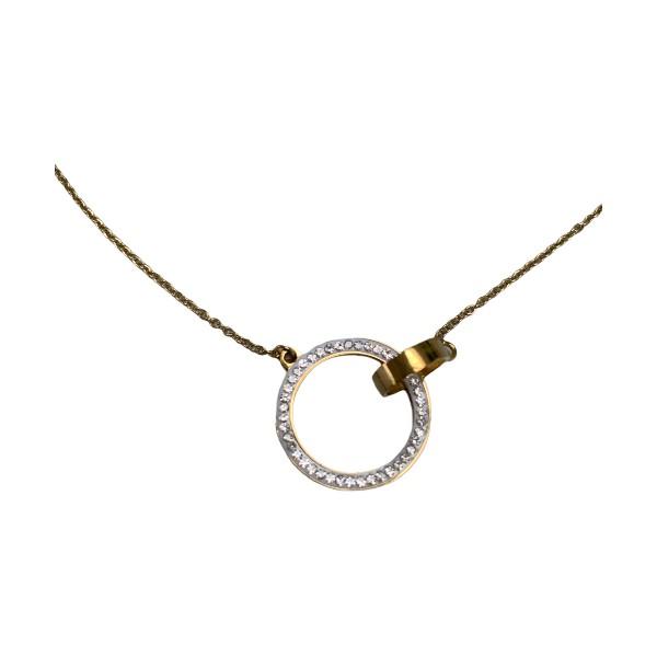 Kortkæde guld cirkel